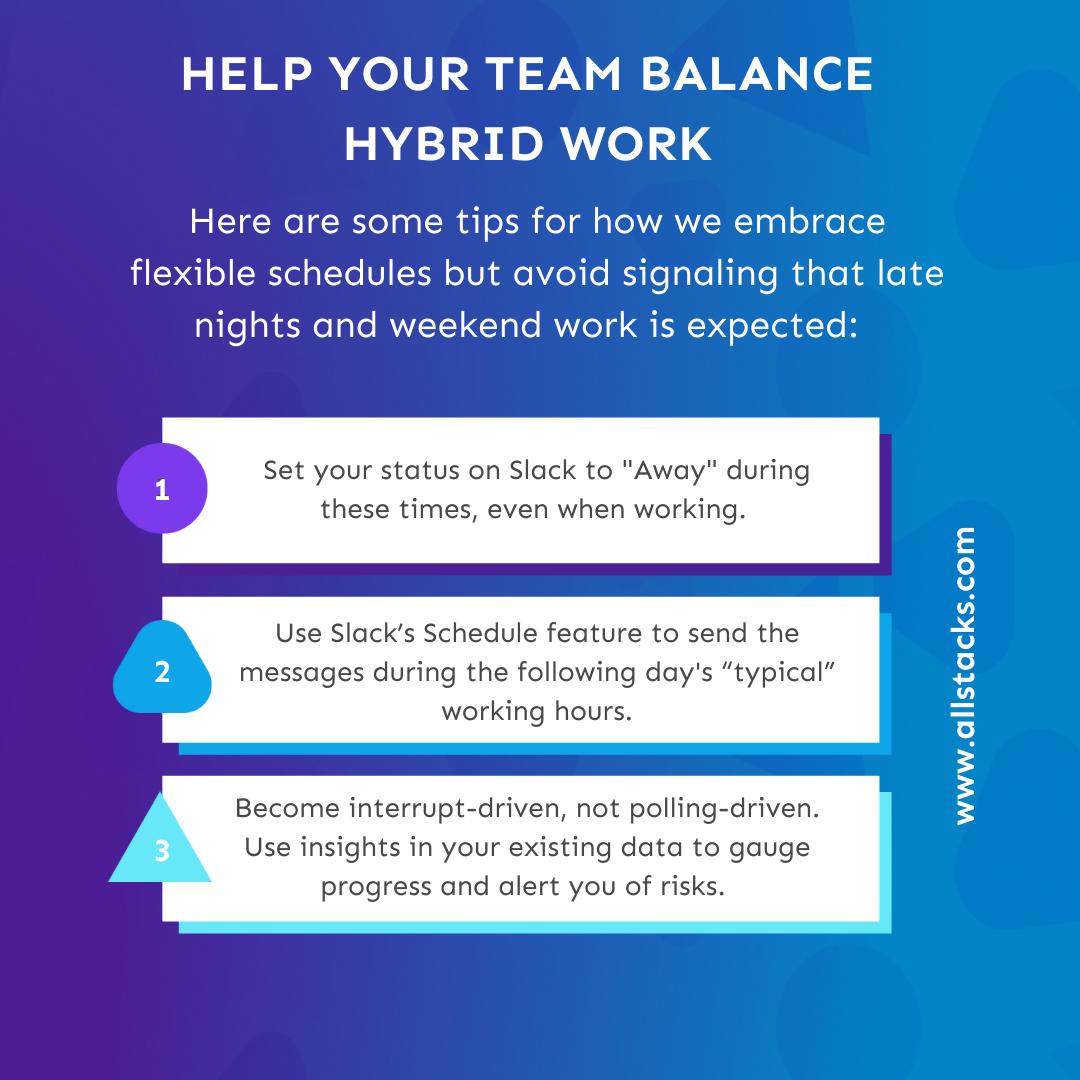 tips to balance hybrid work